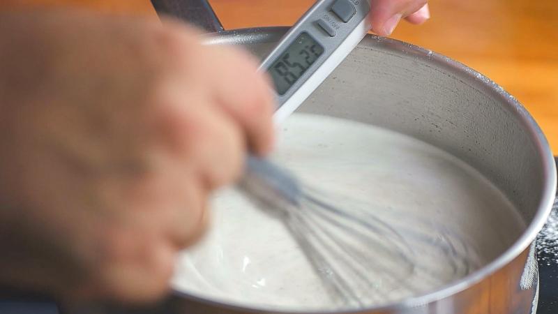 Calentar mix helado de vainiila