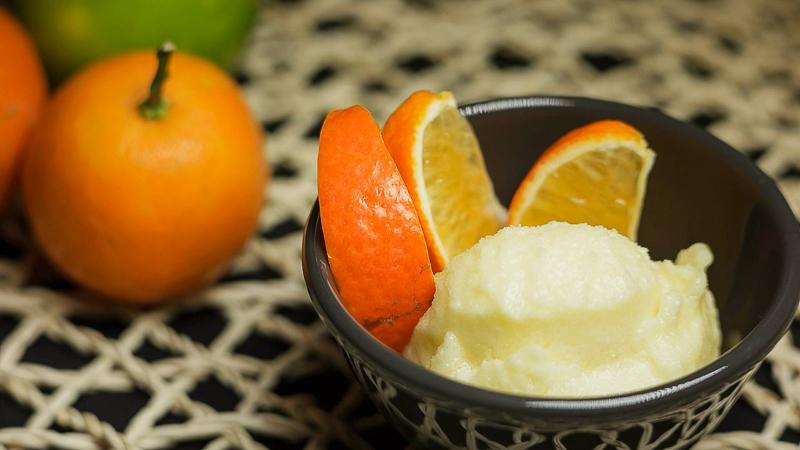 Receta helado casero y cremoso de mandarina