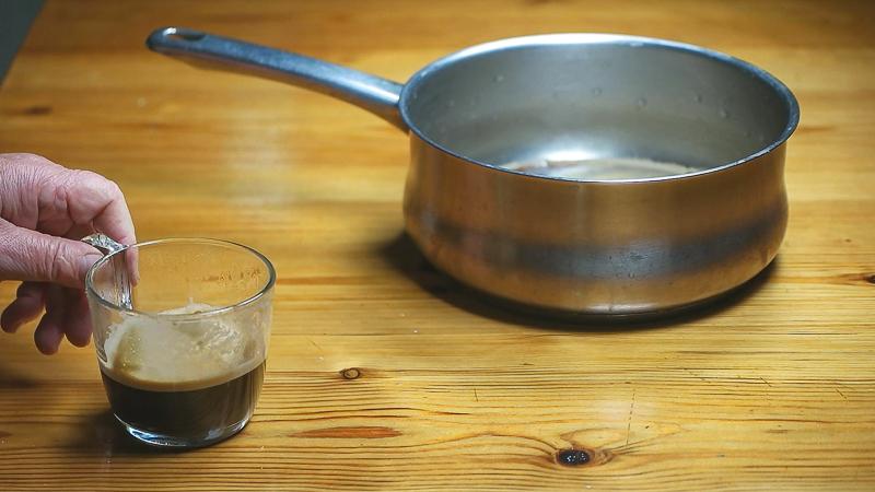 café expreso para hacer helado de café capuchino