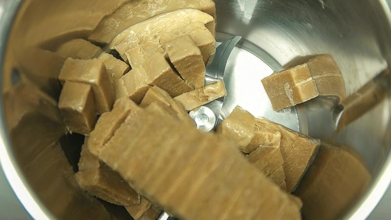 Helado de café troceado para triturar con thermomix