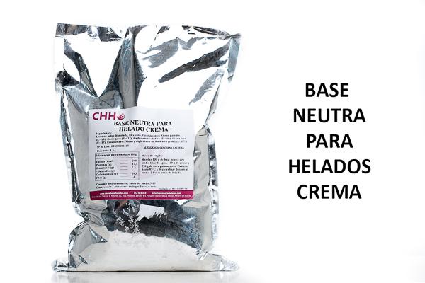 base neutra para helados crema