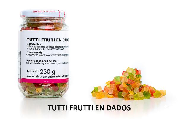 tuti fruti en dados