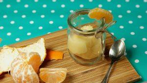 sorbete de mandarina con cava